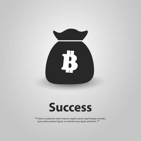 online trading: Financial Success with Bitcoin - Concept Illustration