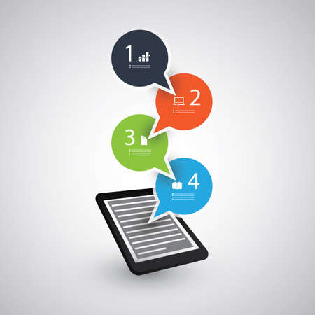 flow diagram: Infographic Design - Trends of Tablet and Mobile Phones Concept