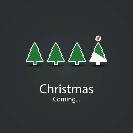 Christmas is Coming - Christmas Card Design Vector
