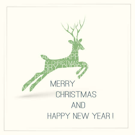 minimalist: Christmas Card with Deer