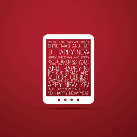 wish list: Christmas Card with Tablet, E-Book Reader