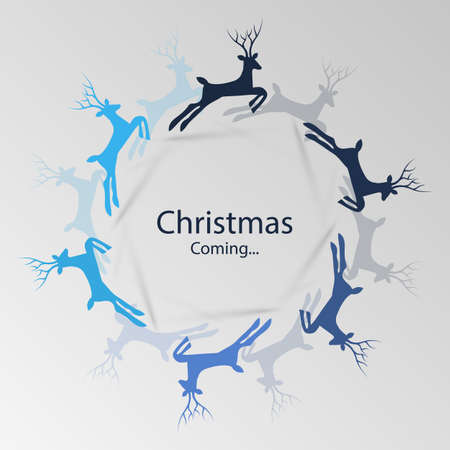 Christmas is Coming - Greeting Card Concept Vector