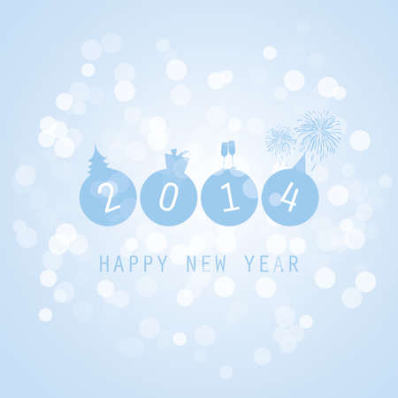 New Year Card - 2014 Stock Vector - 24546293