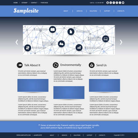 Business, Connection, Network - Website Template Vector