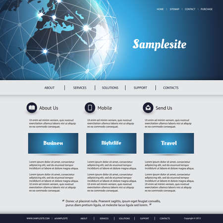it background: Business, Connection, Network - Website Template Illustration