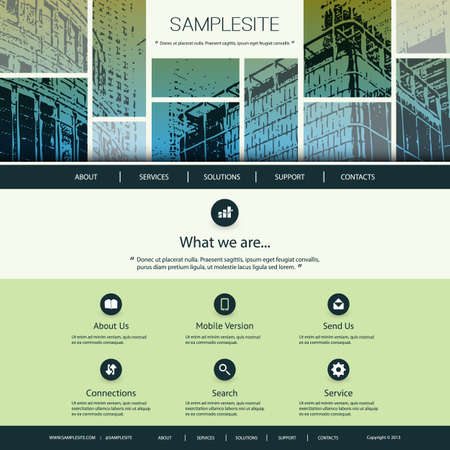 Website Design for Your Business  Vector