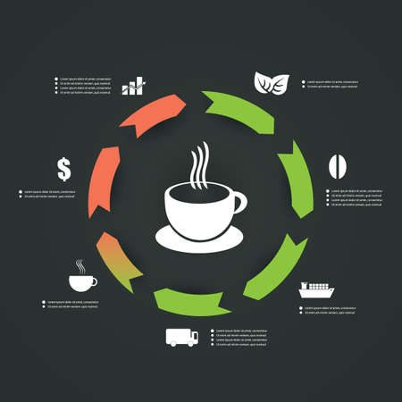 Infographics Design - Coffee Cup Vector