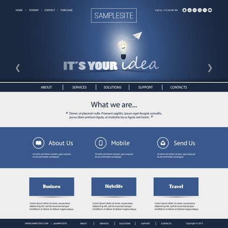 It s Your Idea - Business or Technology Website Template Vector