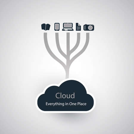tree world tree service: Cloud Computing Concept Illustration