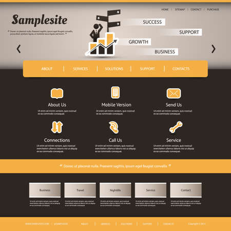 Website Template for Your Business or Blog Vector