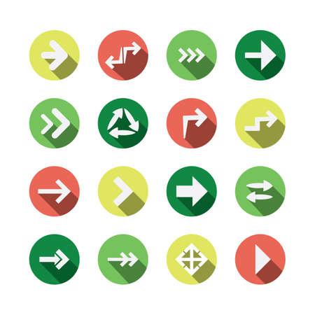 designator: Set of Flat Arrow Icon Designs