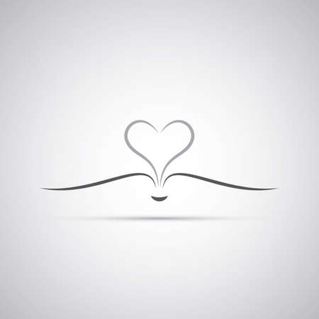 Book With Open Pages Forming a Heart - Icon Design Vector