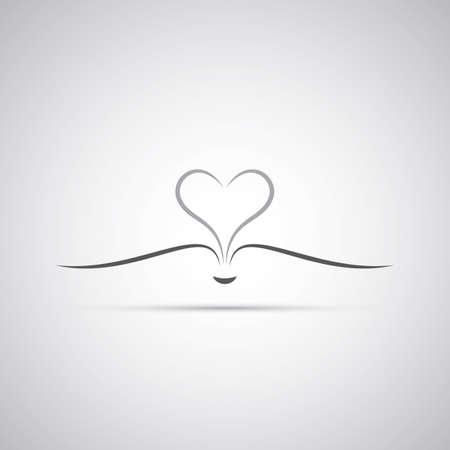 Livre Avec Open Pages formant un coeur - Icon Design Banque d'images - 24971308