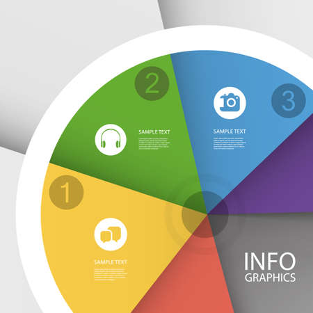 Colorful Business Pie Chart - Infographic Design Vector