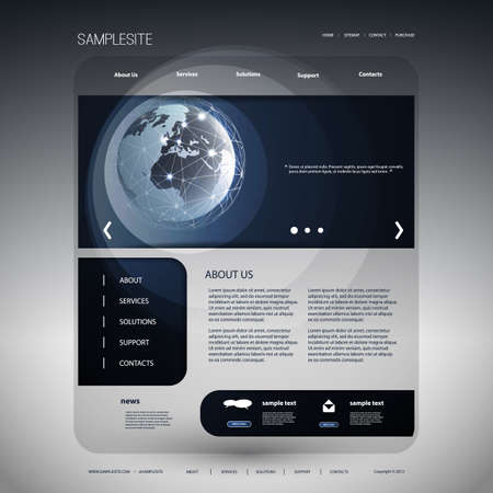 weltweit: Website Schablonen