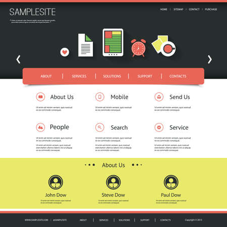 Website Template for Your Business or Blog Stock Vector - 25303481