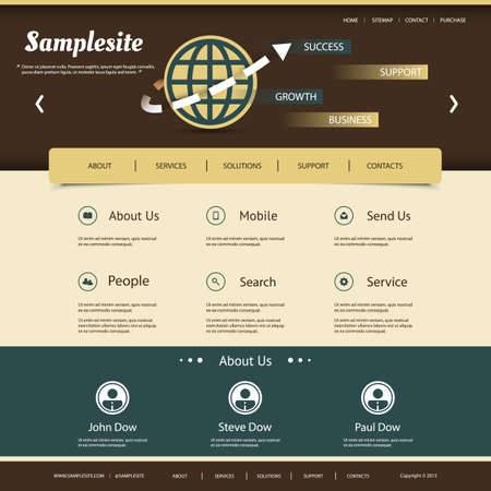 original circular abstract: Website Template for Your Business or Blog