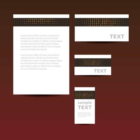 imagen corporativa: Plantilla de papeler�a, Dise�o de Imagen Corporativa Vectores
