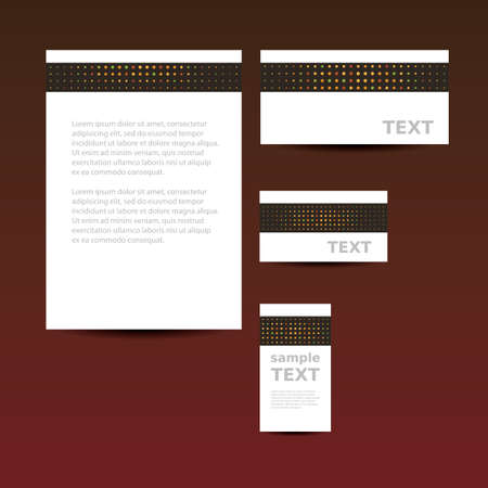 Stationery Template, Corporate Image Design Vector
