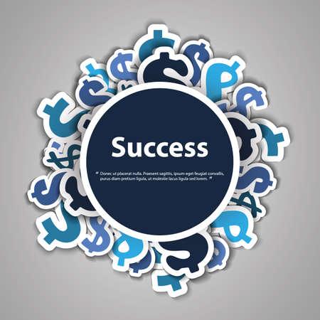 Success - Dollar Signs Design Concept