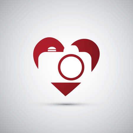 I Love Photography - Camera Icon Design Stock Vector - 25467594