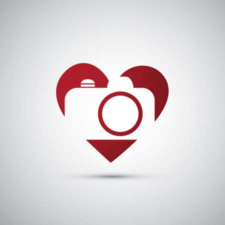 photography: Ich liebe Fotografie - Kamera-Icon Design