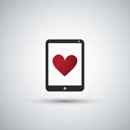 I Love the Internet - Tablet Icon Design Vector
