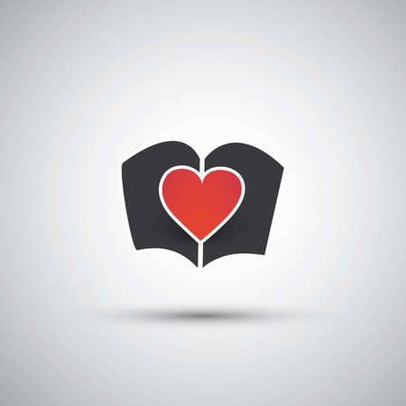 I Love Books - Book Icon Design  Vector