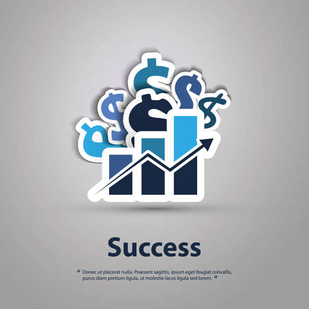 bank deposit: Success - Graphic Design Concept