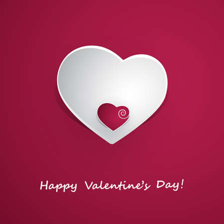 Valentines Day Card Design - Template Illustration for Your Greeting Card Vector