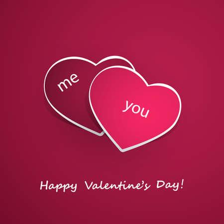 me: Valentines Day and Wedding Card Design Illustration
