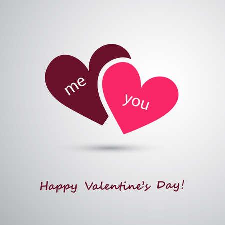Valentines Day and Wedding Card Design Illustration