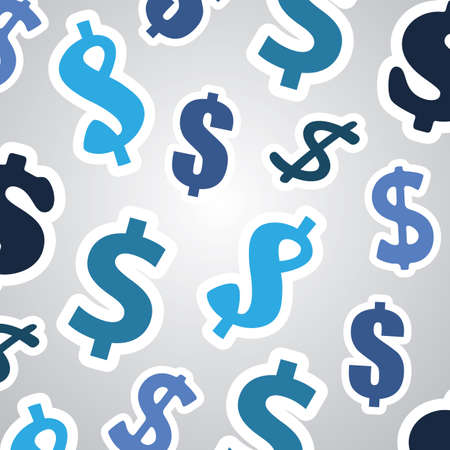 economical: Background with Dollar Signs - Business Concept Design