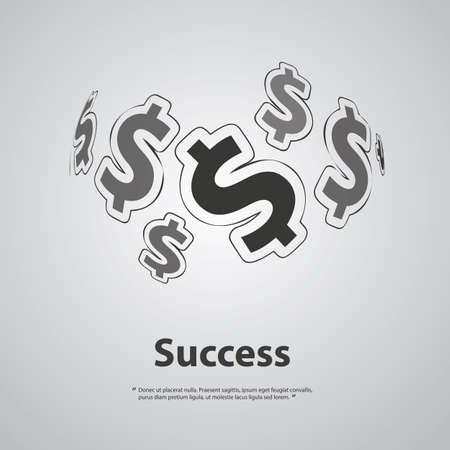 make money: Success - Dollar Signs Design Concept