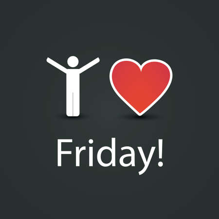 long weekend: I Love Friday  - Design Concept