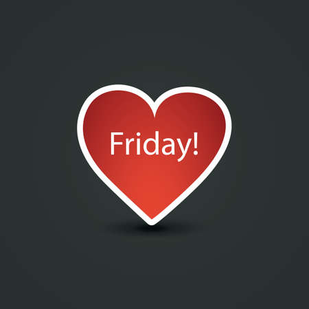 I Love Friday - Design Concept Vector