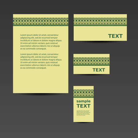 Stationery Template, Corporate Image Design - Natural Style Vector