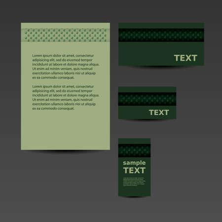 imagen corporativa: Papeler�a plantilla, dise�o de imagen corporativa con las hojas Vectores
