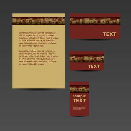 carmine: Plantilla de papeler�a, Dise�o de Imagen Corporativa - Retro Urban Style