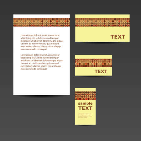 Stationery Template, Corporate Image Design - Retro Style Vector