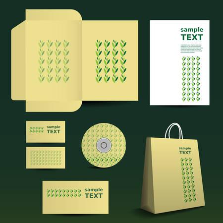 imagen corporativa: Stationery Template, Dise�o de Imagen Corporativa con las hojas