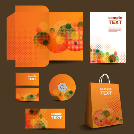 vivid colors: Stationery Template, Corporate Image Design with Vivid Colors