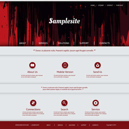 grungy header: Website Template Design with Grungy Header