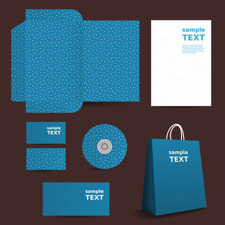 Stationery Template, Corporate Image Design with Small Stars Pattern Vector