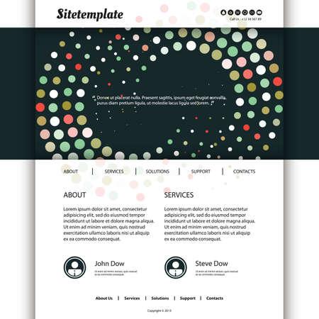 spiralling: Website Design with Abstract Spiralling Dots Header