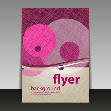 magenta decor: Flyer or Cover Design with Abstract Bubbles