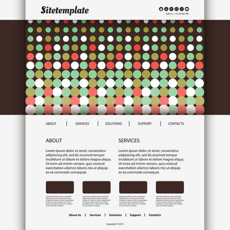 Website Template Design with Dotted Header Vector