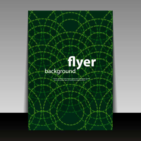 Flyer or Cover Design with Rings Pattern  Vector