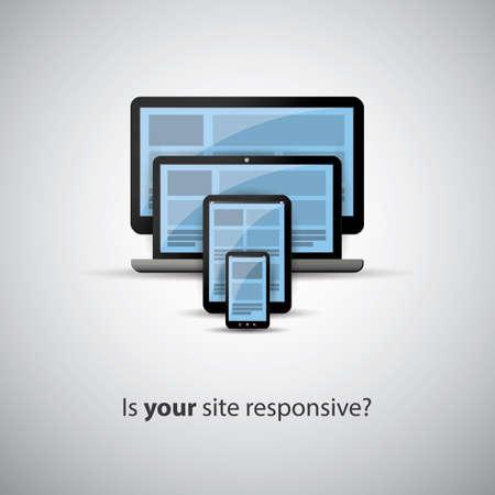 Responsive Web Design Concept - Ist Ihre Website Responsive Illustration
