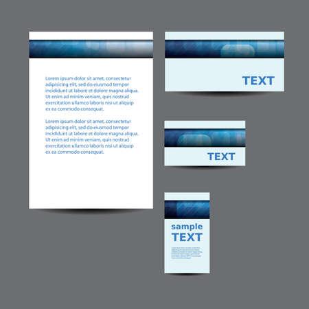 imagen corporativa: Papeler�a plantilla, dise�o de imagen corporativa con Abstract Squares transparentes Patr�n